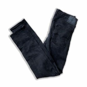 Charcoal gray faded black Levi's